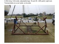 Yacht Cradle to suit 35' to 40' yacht