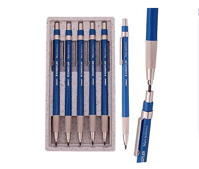 5pcs Staedtler 780c Mars Technico Mechanical Lead Holder Clutch Pencil 2.0mm Hb