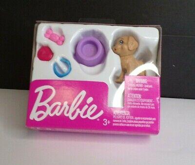 Barbie Puppy Dog Pet Mini Accessory Pack Mattel Bowl Bow Disc 5pc Set Sealed
