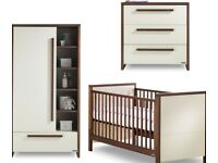 Izziwotnot nursery baby furniture - cot bed, wardrobe and chest of drawers
