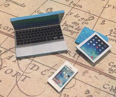LPS *AQUA BLUE* Laptop Tablet Phone 3+-Littlest Pet Shop Accessories FREE SHIP - Blue Accessories