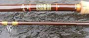 hardys vintage fishing rod feberlite spinner 9 1/2 ft RARE