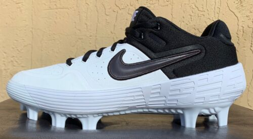 Mens Nike Alpha Huarache Elite 2 MCS Baseball Cleats Size 8-9-10-11-12-13 WHITE