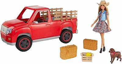 Barbie SWEET ORCHARD FARM TRUCK and DOLL with Pet Dog and MORE brand new