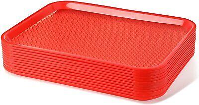 Red Fast Food Trays 14 X 17 34 12 Pk.