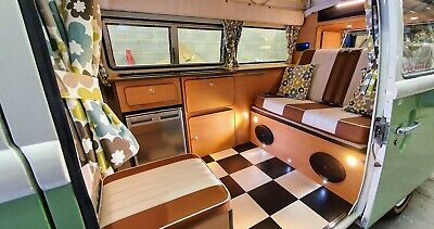 VW T2 Splitscreen Baywindow T25 Type 2 Camper Van Interior Kitchen Bed