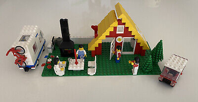 Vintage Lego 1472 6388 Holiday Home A-Frame Town 1987 Rare 85% Complete