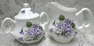 Wild Violet, Fine Bone China, Made in England by Adderley Ceramics CREAM & SUGAR