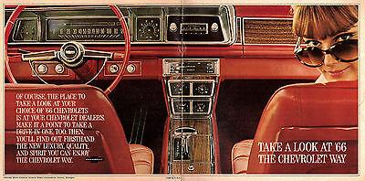 1966 Cheverolet Brochure Various Models Features Photos Impala Corvette Etc