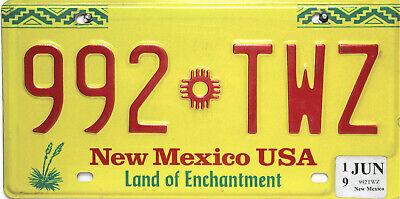 New Mexico  License Plate,  Original Nummernschild USA  992 TWZ ORIGINALBILD