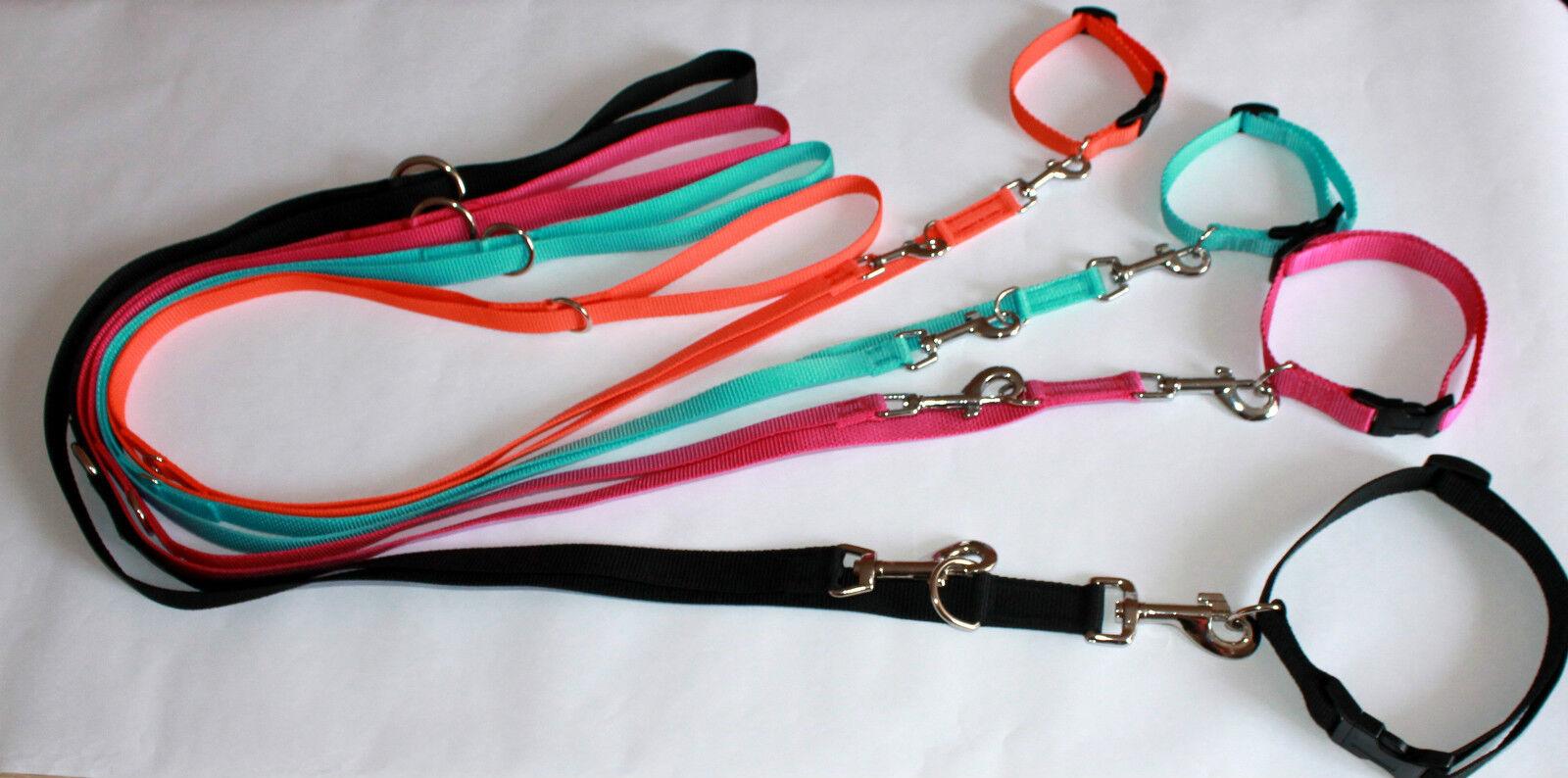verstellbare Leine und Halsband in Set   Hundeleine  Hundehalsband in 4 Größen