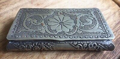 Vintage Small Middle Eastern Or Indian Silver Box