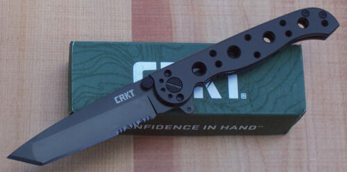 "CRKT M16-10KS CARSON FLIPPER FOLDING KNIFE FRAME LOCK 3 1/8"" COMBO EDGE TANTO"