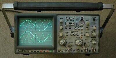 Hitachi Vc-6045 100mhz Digitalanalog Oscilloscope Two Probes Power Cord