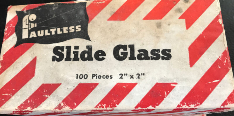 "100 Pieces FAULTLESS SLIDE GLASSES 2""x 2"" in box"