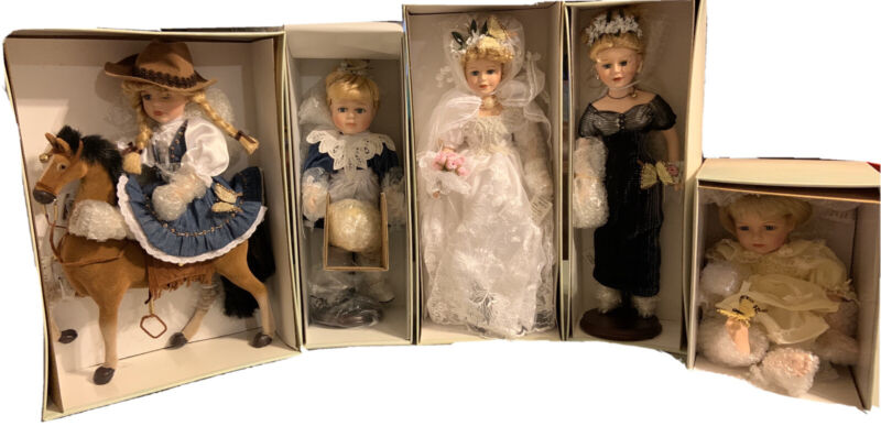 Butterfly Kisses Precious Collectibles Dolls Complete Set of 5 Dolls NIB!!!