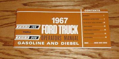 1967 Ford Truck F-100 - F-350 Gasoline & Diesel Owners Operators Manual 67 comprar usado  Enviando para Brazil