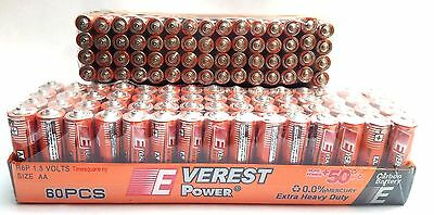 60 AA plus 60 AAA Batteries extra Heavy Duty Wholesale lot