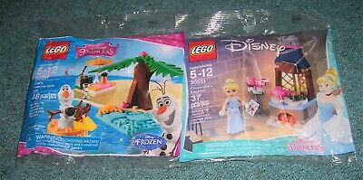 LEGO Disney Friends Frozen 2 Different Polybag Lot 30397 Olaf 30551 Elsa NEW