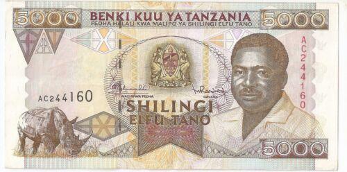 Tanzania 5000 shilling ND (1995)
