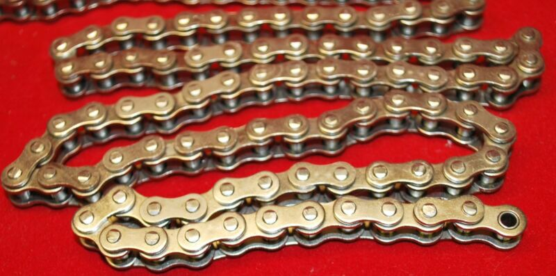 4ft Riveted Nickel Plated Go Kart Mini Bike Roller Chain 35-1R Rust Resistant