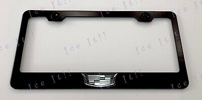 Cadillac Escalade Laser Engraved Etched Stainless Steel License Plate Frame