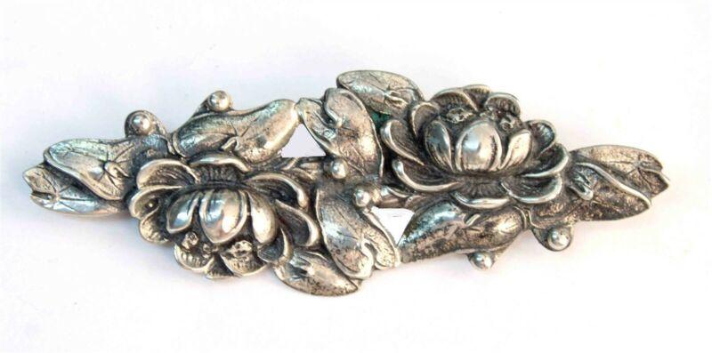 Vintage Sterling Danecraft Water Lily Pin / Brooch
