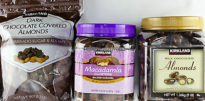 Kirkland Signature Milk Dark Chocolate Almonds Macadamia Nuts Caramel - Signature Dark Chocolate