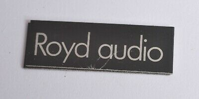 VINTAGE ROYD AUDIO REPLACEMENT SPEAKER BADGE