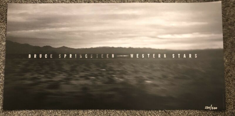 BRUCE SPRINGSTEEN WESTERN STARS DESERT LITHOGRAPH POSTER 12X24 NUMBERED 234/500