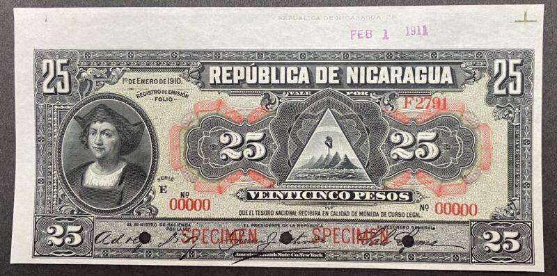 Nicaragua Specimen Banknote P 47b