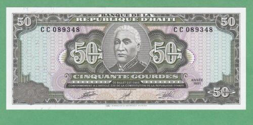 Haiti 50 Gourde Notes  P-257a  UNCIRCULATED