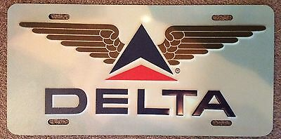 Delta Airlines License Plate