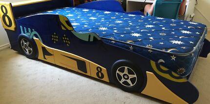 Racing car bed (inc mattress)