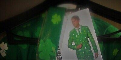 ST. PATRICK'S DAY Suitmeister MENS SUIT JACKET & NECK TIE XL 46-48 Shamrocks - Shamrock Suit