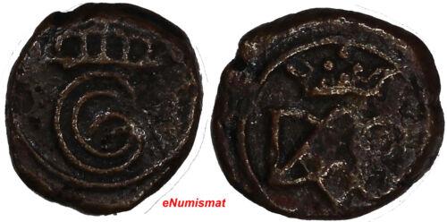 India-Danish,Tranquebar  Christian VI (1730-1746 ) Copper Cash 0,96 g. KM# 132