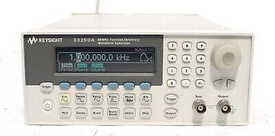 Agilent Keysight 33250a 80 Mhz Function Arbitrary Waveform Generator