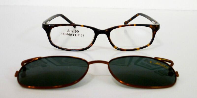 51-16-135 Geometric Prescription Frame with Detachable Shades MSRP $89.99