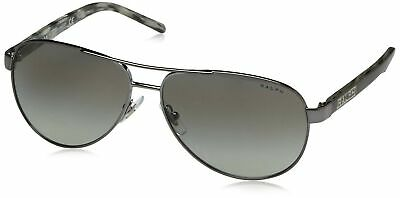 Ralph by Ralph Lauren Women's 0ra4004 Aviator Sunglasses, Gunmetal/Grey (Ralph Lauren Women's Aviator Sunglasses)
