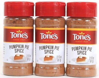 3 Tones Pumpkin Pie Spice Quality Freshness Value 2.12 oz Best By
