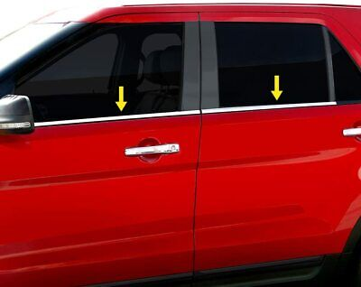 4pc Chrome Stainless Window Sill Trim for 2005-2009 Chevy Aveo5 5 door