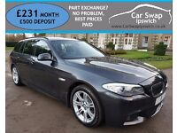 BMW 5 SERIES 520D M SPORT TOURING (grey) 2011