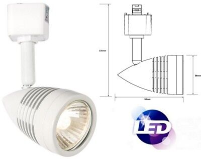 (LED 240V Kitchen Track Single Circuit Head GU10 Spot Warm White Light Fitting )