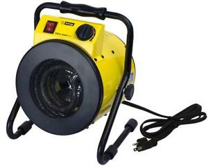 NEW King Electric PSH1215T Portable Shop Heater with Thermostat, Yellow Condition: New