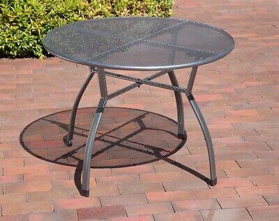 Greemotion Toulouse Gartentisch 100 cm Streckmetall Rundtisch Tisch eisengrau