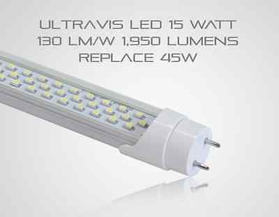 4 Led T8 T12 4 Tube 15w Replaces 45w 2000 Lm Frosted Cover 5k Ul Dlc