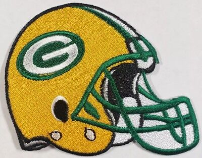 Green Bay Packers~Helmet~Embroidered Iron On Patch~Free Shipping from U.S.A.~ - Green Bay Helmets