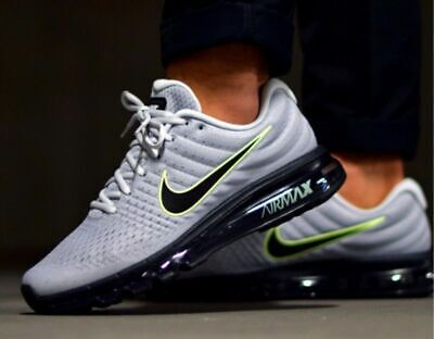 Nike Air Max 2017 Wolf Grey Platinum 849559-012 Running Shoes Men's ALL -