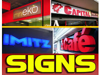 Shop Front Signs/Interior Signage/Menu Light Boxes & Display/Sign Makers/3D Built up Letter/Banners