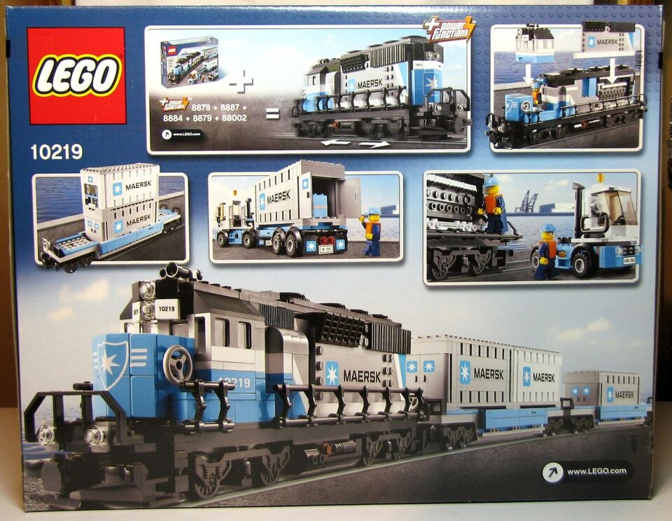 New Lego Set 10219 Maersk Train 1234 Pieces Factory Sealed